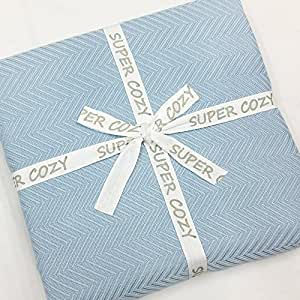 SUPER COZY 100% Bamboo Fiber Blanket. Ultra softness and smothness like silk. Drop well with heavy weight. Much better than cotton. PERFECT GIFT for anyone you love and care (QUEEN, BALLAD BLUE)
