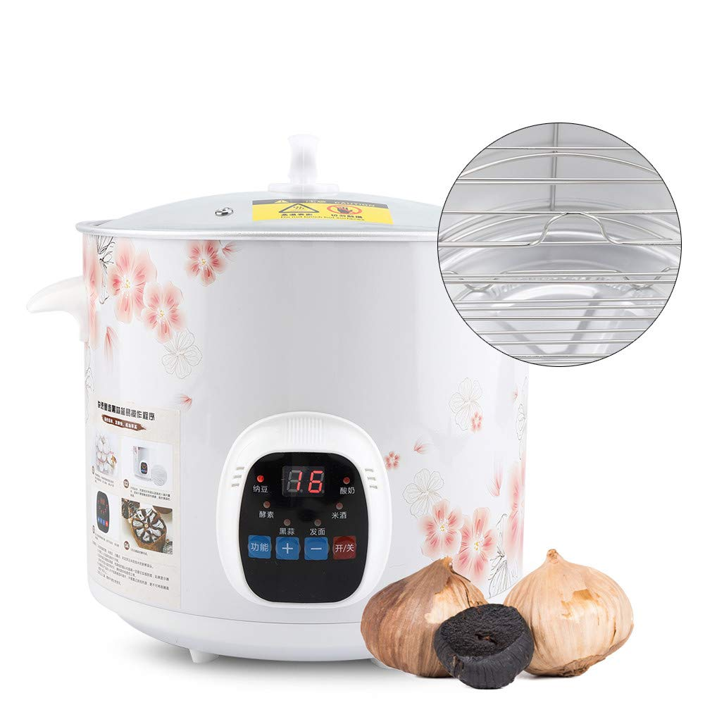 Black Garlic Fermenter - Electric Black Garlic Maker Machine Full Automatic Intelligent Black Garlic Pot, 6L 220V