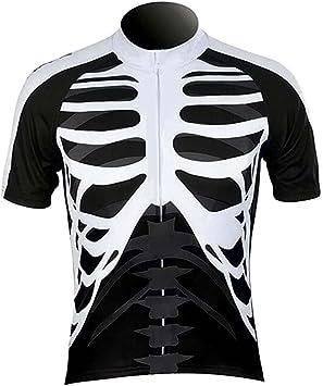 Esqueleto de calavera WOLFBIKE camiseta fresco verano traje de ...