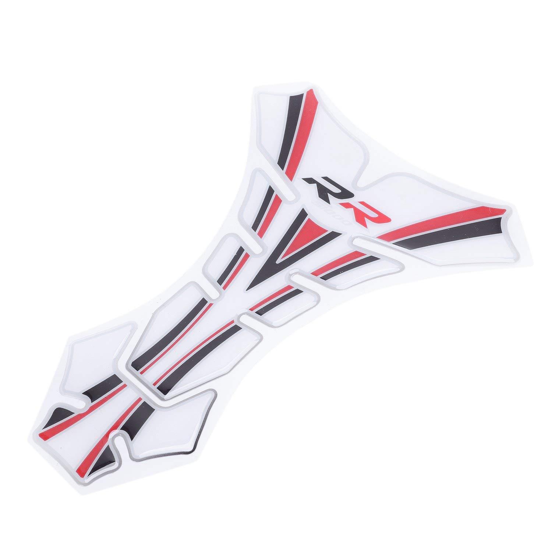Rouge + Noir + Blanc XZANTE Autocollant 3D De Moto Tampon Etui De Reservoir DEssence Et DHuile De Gaz Decalques De Couvercle De Protection pour S1000Rr S1000R S1000 RR
