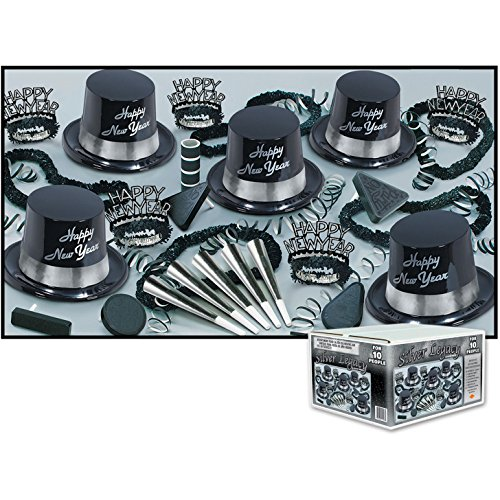 Silver Legacy Asst for 10 (NO RETAIL PRICE ON CARTON) Party Accessory  (1 count) (Asst Kits)