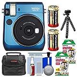 Fujifilm Instax Mini 70 Instant Film Camera (Blue) with 40 Prints + Case + Batteries + Flex Tripod + Kit