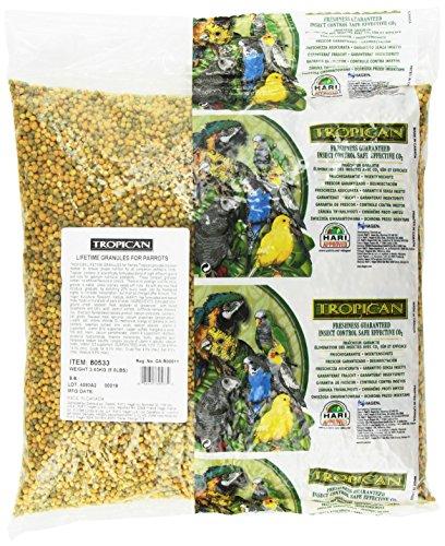 Tropican Lifetime Formula Maintenance Parrot Granules, 8-Pound ()