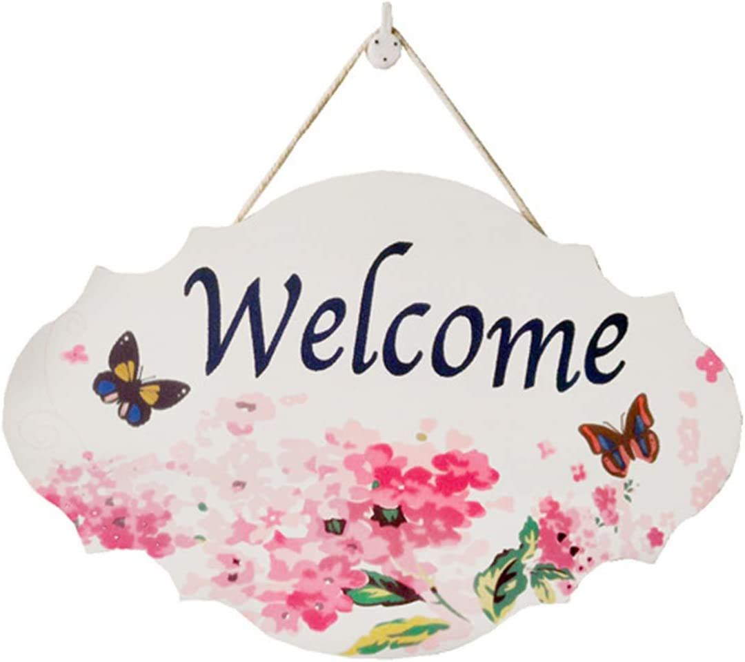 ZOONAI Welcome My Room Creative Hanging Rustic Family Porch Welcome Front Door Sign Home Decor Home Decoration (Welcome)