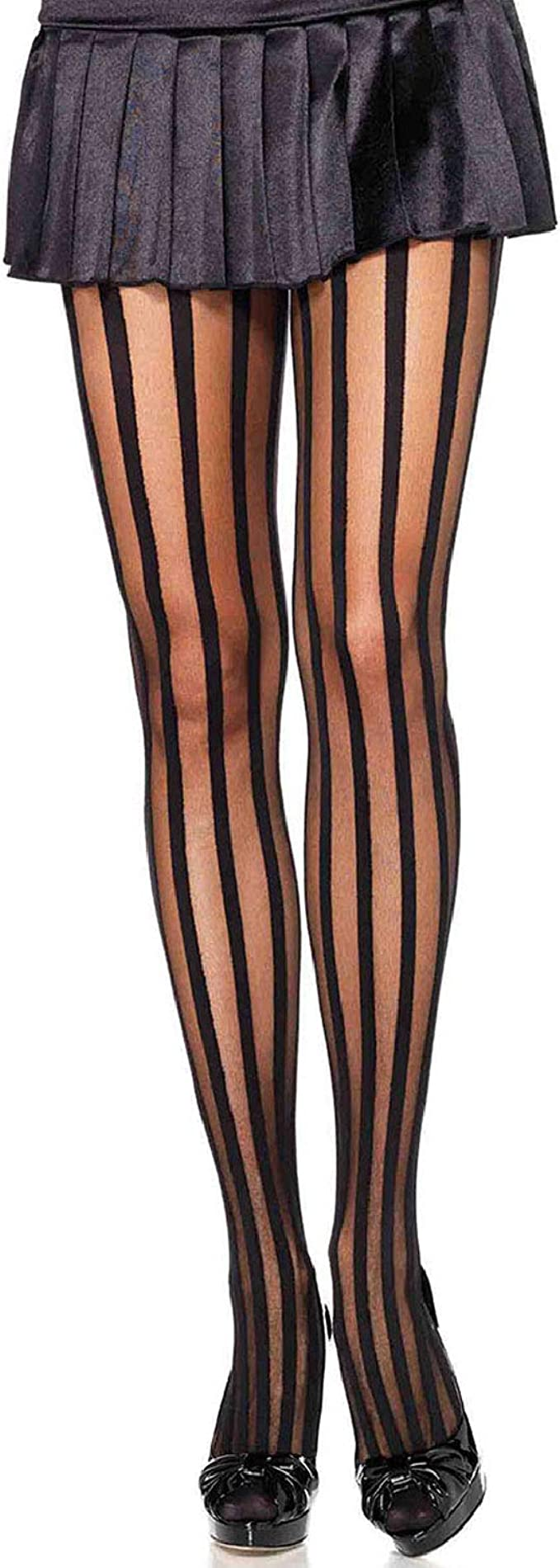 1920s Stockings, Tights, Nylons, Socks History Leg Avenue Womens Hosiery Striped Tights $10.98 AT vintagedancer.com