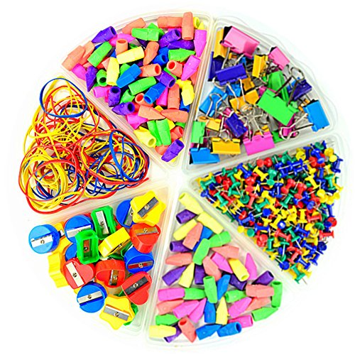 Pencil Top Eraser Caps Arrowhead Assorted Colors in Bulk Pack of 150 by Lopalemry (Image #2)