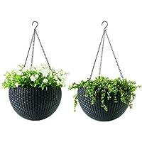 Hanging Planter Flower Pot Basket Plant Container Set fp-01-2. pc
