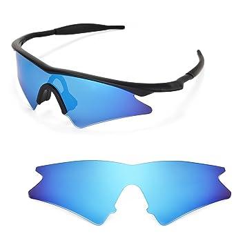 Walleva Wechselgläser Und Earsocks für Oakley M Frame Heater Sonnenbrille - Mehrfache Optionen (Titan polarisierte Linsen + grauer Gummi) qr04F