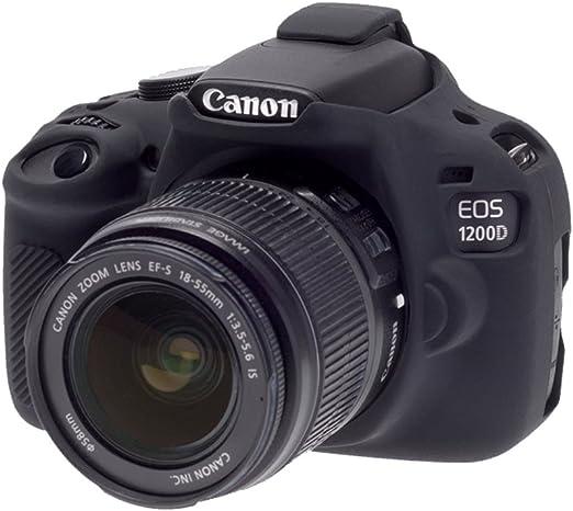Bilora ECC1200DB - Carcasa de Silicona para Canon 1200D, Negro ...