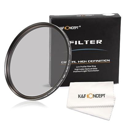 K&F Concept 58mm CPL Polarizador Circular Filtro + Paño de Limpieza para la Lente
