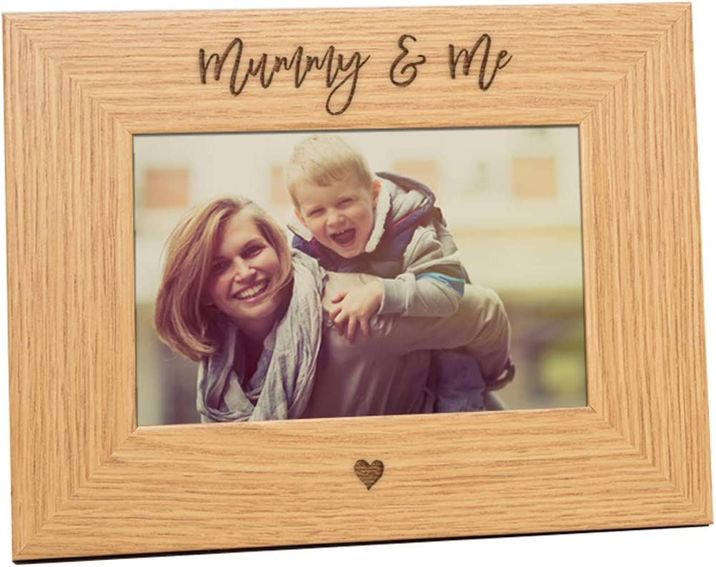 Personalised Mummy and Me Wooden Photo Frame Keepsake Gift QUICK POSTAGE