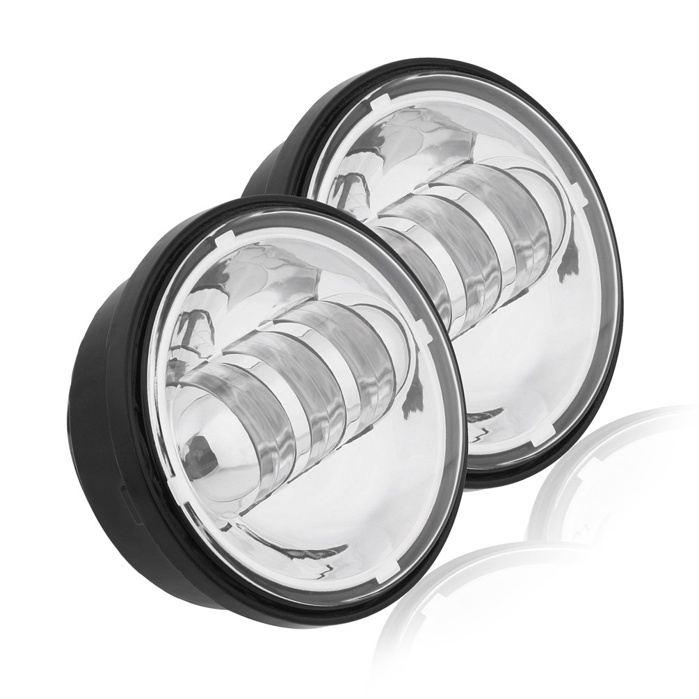 Motorcycle 4-1//2 4.5inch LED Passing Light for Harley Davidson Fog Lamps Auxiliary Light Bulb Projector Spot Driving Lamp Headlight