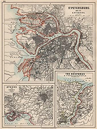 Amazon Com Europe St Petersburg Athens Piraeus Constantinpole