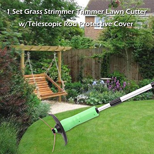 Artificial Lawn - 1 Set Garden Power Grass Strimmer Trimmer Lawn Cutter W Telescopic Rod Protective Cover Pruning - Carpet Care Turf Deodorizer Rake Dogs Flowers Brush Tape Miniature (Set Garden Telescopic Tool)