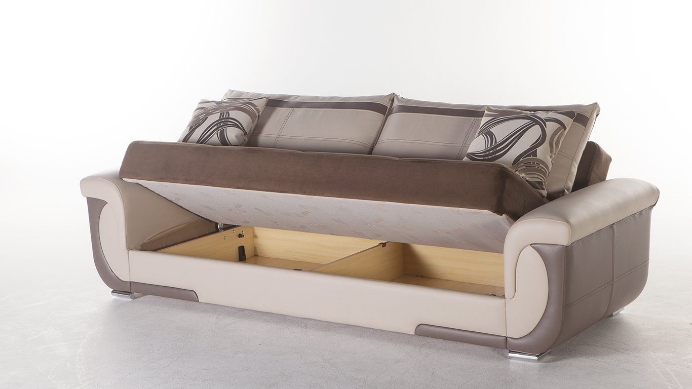 Amazon.com: Lima S Two-Tone Best Brown Sofa Sleeper: Kitchen ...