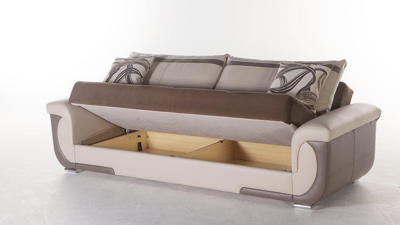 Amazon.com: Lima S Two-Tone Best Brown Sofa Sleeper: Kitchen ...