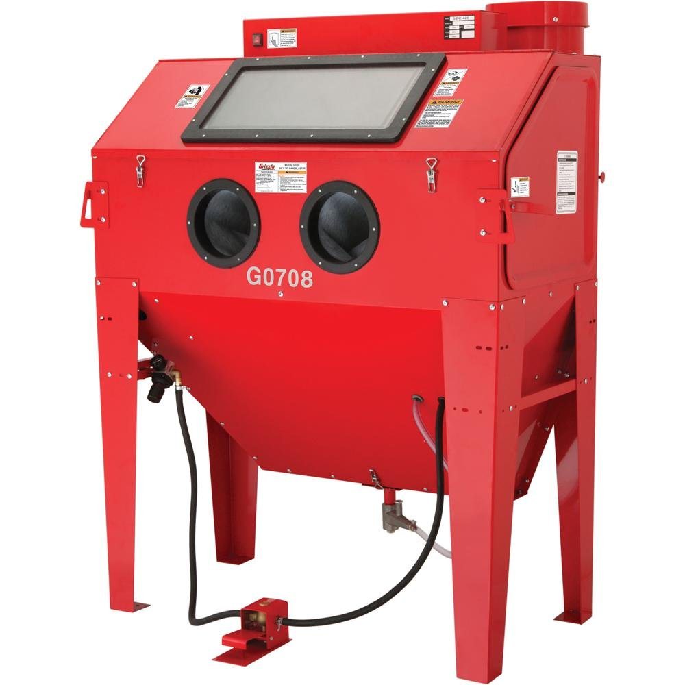 grizzly g0708 blast cabinet 24 x 48 inch power sand blasters rh amazon com sandblasting cabinet for sale craigslist sand blasting cabinet for sale melbourne