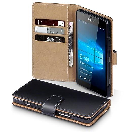 19 opinioni per Microsoft Lumia 950 Cover, Terrapin Premium di cuoio del raccoglitore per