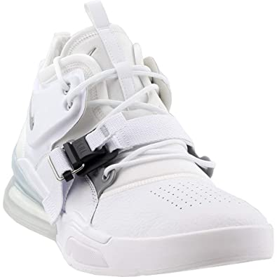 on sale 7573b 4940e Nike Air Force 270, Chaussures de Fitness Homme, Blanc (WhiteMetallic  Silver