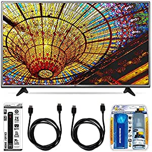 LG 65UH6030 - 65-Inch 4K UHD Smart LED TV w/ webOS 3.0 Essential Accessory Bundle includes TV, Screen Cleaning Kit 6 Outlet Power Strip with Dual USB Ports and 2 HDMI Cables