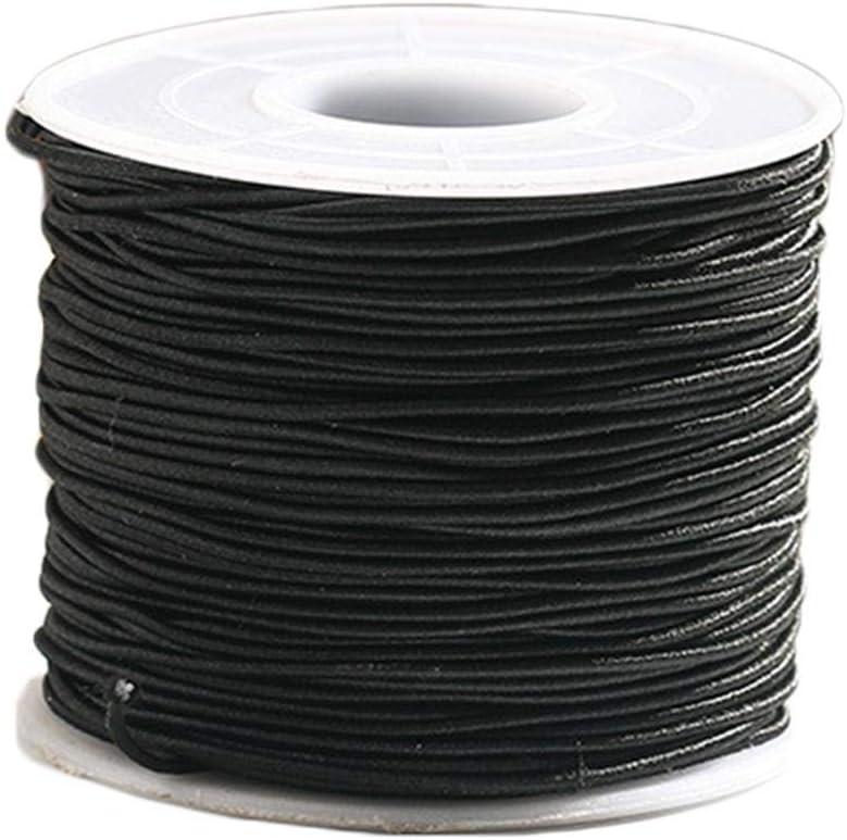 Bianco Nero Piatto Rotondo Corda Elastica Estensibile Per Cucito Crafts Sartoria