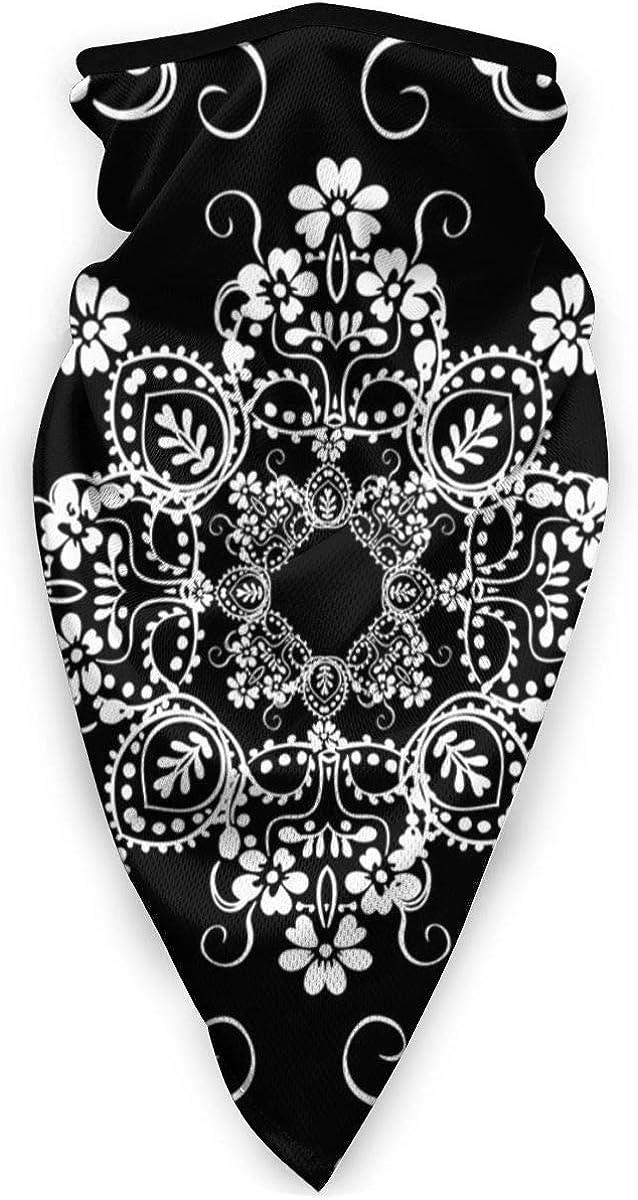 Classic Decorative Seamless Black White Vector Image Neck Gaiter Dust Sun Protection Face Cover Balaclava Sports Headwear Works As Scarf Headband Bandana Face Mask