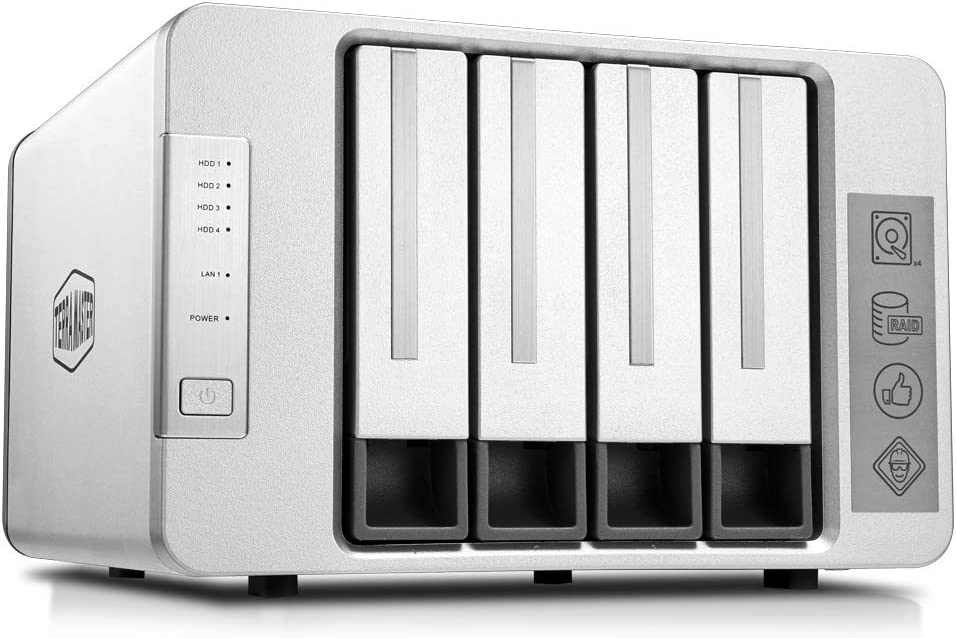 TerraMaster F4-210 4-Bay NAS 2GB RAM Quad Core Network Attached Storage Media Server Personal Private Cloud (Diskless)