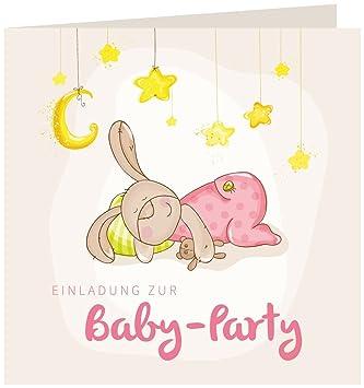 12 Einladungskarten Baby Party U201eHaseu201c | Inkl. 12 Briefumschläge |  Einladungen Baby