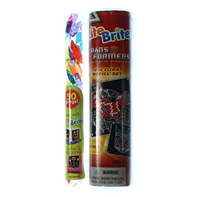 Transformers Lite Brite Picture Refill Set with Bonus 50 Pegs!: Toys & Games