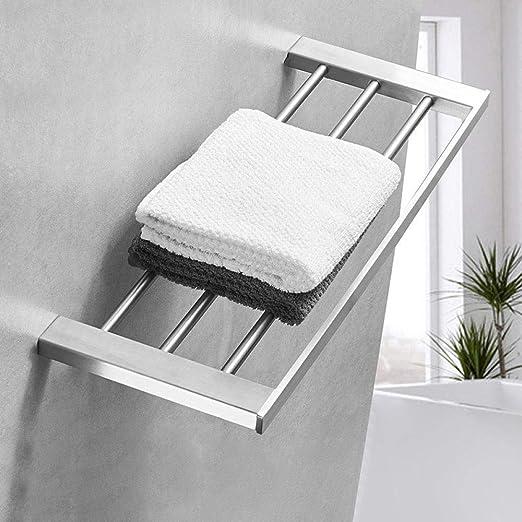 Baño colgante de acero inoxidable pulido titular de toalla ...