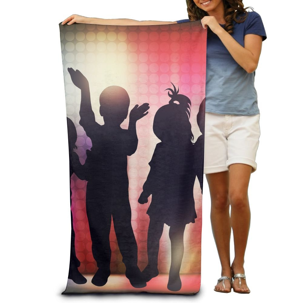 Super Absorbent Beach Towel Dance Children Family Polyester Velvet Beach Towels 31.551.2 Inch by Summer Park (Image #1)