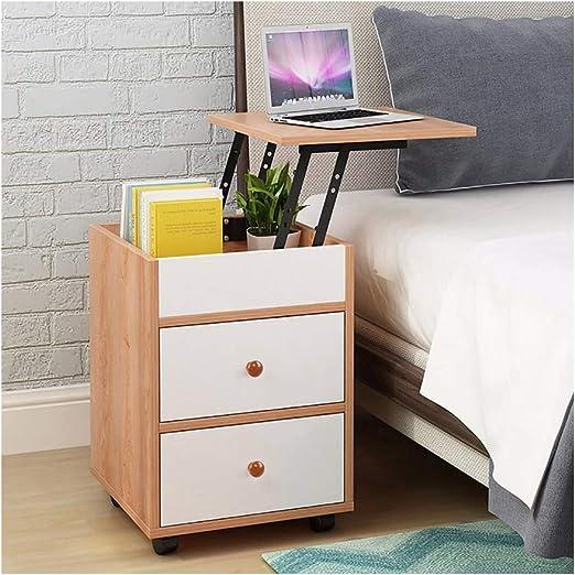 Brown Benzara BM181832 Wooden Nightstand with Hidden Drawer