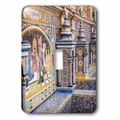 3dRose Danita Delimont - Spain - Spain, Andalusia, Seville. Traditionally decorated Plaza de Espana - Light Switch Covers - single toggle switch (lsp_277896_1) by 3dRose