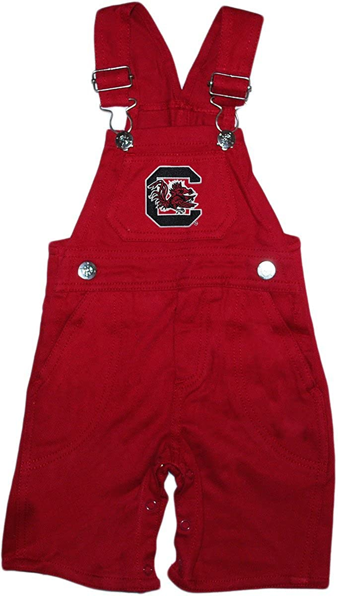 University of South Carolina Gamecocks Newborn Baby Infant Toddler Overalls