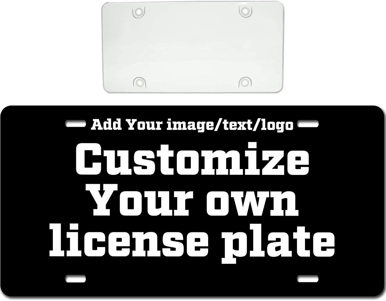 Custom Car Tags 6 x 12 Inch Personalized Aluminum Novelty Vanity License Plates Custom Personalized Front License Plates
