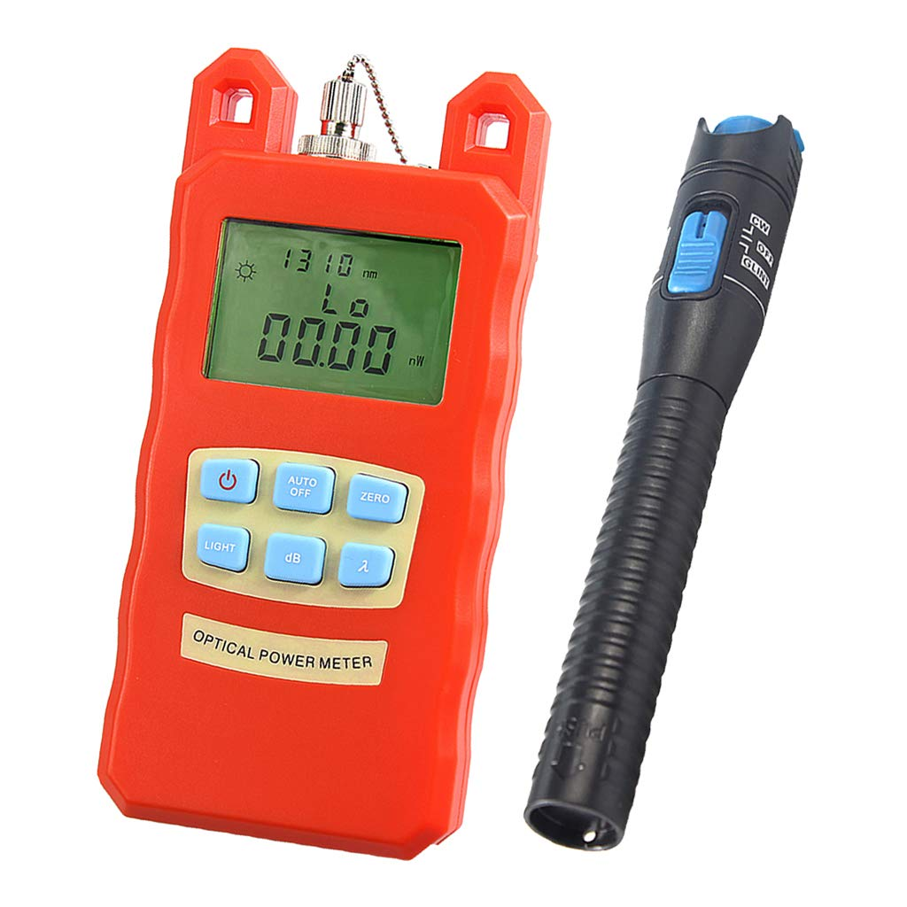 Baosity Pack Portable Optical Fiber Power Meter Tester Measure -70dBm~+10dBm + 1mW 5KM Visual Fault Locator Fiber Tester Detector Meter Pen