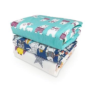 3er-Pack Xiluck Tragbare Wickelauflage,Wasserdichte Wickelunterlage Baby,Weiche Baby Wasserdichte Wickelunterlage Liner Matratze Waschbare Windelunterlage Erwachsene Inkontinenzunterlage