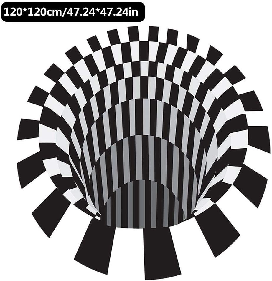 Alfombra De Piso Antideslizante Duradera Alfombra De /Área Alfombrilla De Piso para El Hogar Sala De Estar Alfombra De V/órtice 3D Alfombra De Ilusi/ón 3D Alfombra De /Área 3D Alfombra De Piso