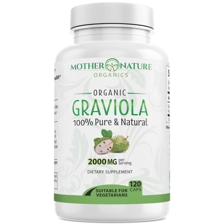 Organic Graviola (Soursop) 2,000 mg - 120 Vegan Capsules - No Fillers, Binders - 100% Pure Graviola Leaf from Peru - Gluten-Free, Non-GMO