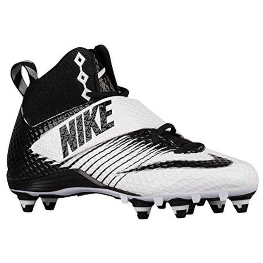Nike Lunarbeast Pro D Football Cleats (8 D(M) US, White / Black-Black)
