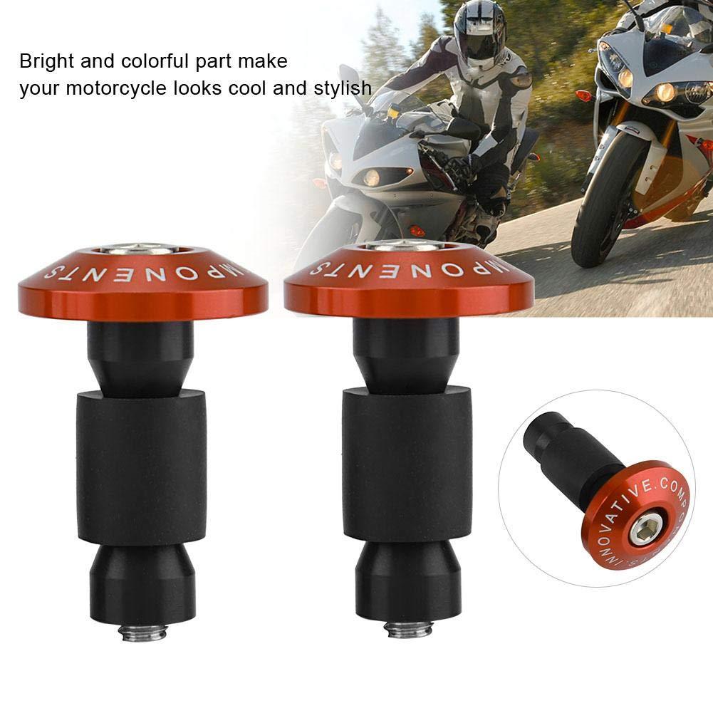 8inch Gomma Moto Manubrio End Slider Tappi per Racing ATV Offroad Titanium 22mm 7