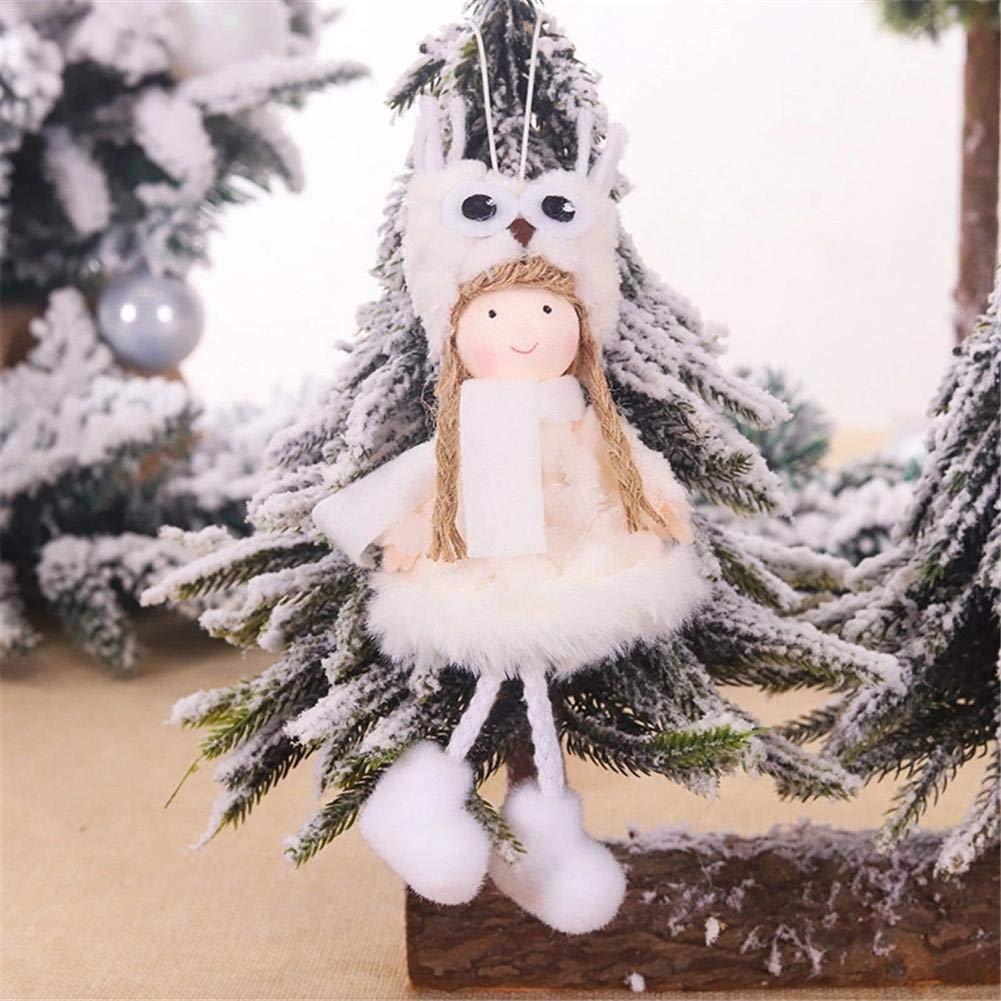 libelyef Mu/ñeco De Peluche De Navidad Angel Charm Ni/ño Lindo Colgante Mu/ñeca Juguete De Peluche Suave para El /Árbol De Navidad Decoraci/ón Adornos Navide/ños Decoraci/ón De Navidad