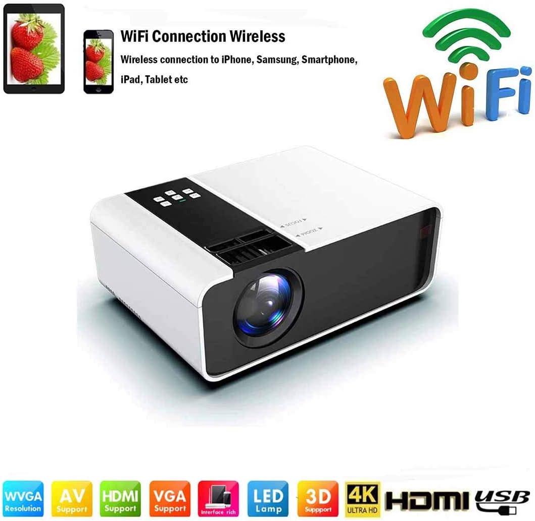 Proyectores WiFi /Mini proyector de video LED Full HD-8000 Lumen de 1080P Portátil para teléfono inteligente Proyector inalámbrico HDMI Multimedia Oficina en el hogar Teléfono móvil Teatro ,Blanco: Amazon.es: Hogar