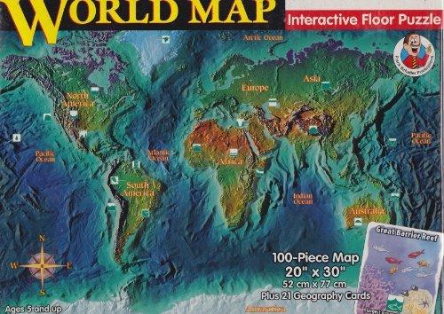 World Map Interactive Floor Puzzle by Frank Schaffer