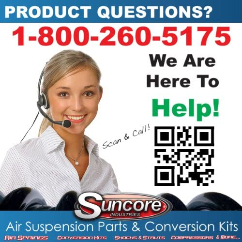 Suncore 148G-30-ASSY Air Suspension Conversion Kit Incl Front Coil Over Gas Struts Rear Gas Shocks And Rear Conversion Kit Air Suspension Conversion Kit