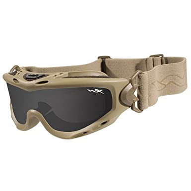 b00927369 Wiley X Spear Goggles Smoke Grey Clear Light Rust Lens Tan Frame:  Amazon.co.uk: Clothing