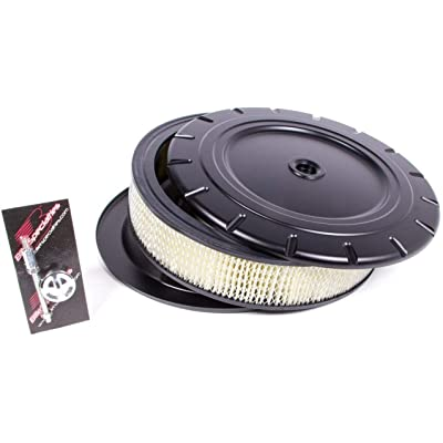 "Air Cleaner 14"" Round Vintage, Black: Automotive"