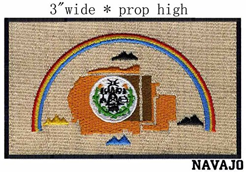 Navajo Nation Flag Iron On Patch 3 x 1 3/4 inch]()