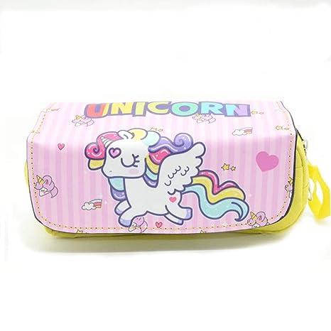 05e02615c Shager - 1pcs Grande Estuches Unicornio Chicas Chicos Niños, Algodón y Lino  Lápiz Cosmética con