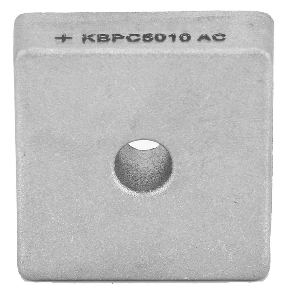 10 Pcs 4 Broches Pont Redresseur KBPC5010 Kit de Composants /Électroniques Carr/é Bo/îtier En M/étal Diode Pont Redresseur Module 50A 1000 V